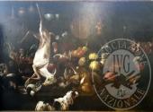 (Lotto n.1) - Olio su tela del pittore PHILIPP PETER ROOS detto ROSA DA TIVOLI