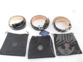 3 Cinture nere in alligatore reale <br />13 Cinture di diverse marche e colori